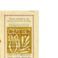Concert de Música Sacra : Gran Missa de la Trinitat d&#039;en Benvingut Socias<br /><br />