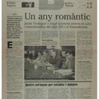 Un any romàntic : Jacint Verdaguer i Àngel Guimerà centren els actes commemoratius del segle XIX i el Romanticisme