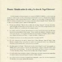 "Premio ""Estudio sobre la vida y la obra de Angel Guimerà"""