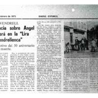 """Conferencia sobre Angel Guimerá en la """"Lira Vendrellenca"""" : con motivo del 50 aniversario de su muerte"""