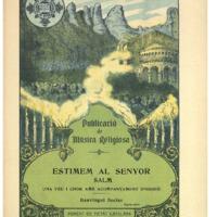 Estimem al senyor : salm : una veu i chor amb acompanyament d&#039;orgue<br /><br />