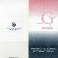 1r Premi Àngel Guimerà de textos teatrals