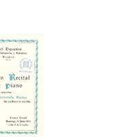 Gran Recital de piano por el insigne concertista Bienvenido Socias hijo predilecto de esta villa<br /><br />