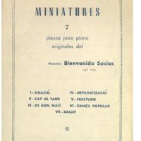 Miniatures : 7 piezas para piano<br /><br />