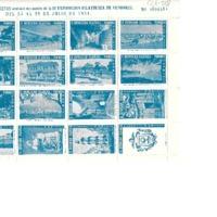 Colección de viñetas emitidas con motivo de la II Exposición Filatélica de Vendrell del 25 al 29 de julio de 1951<br /><br />